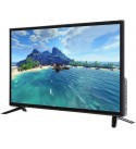 Zouminy 32-inch HD LCD TV Supports USB HDMI Clear Image Television RF Antenna Black 1366768(US)