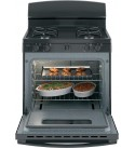 GE JGBS10DEMBB 30 Inch Freestanding Gas Range with 4 Burners, Sealed Cooktop, 4.8 cu. ft. Primary Oven Capacity, in Black