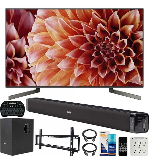 XBR49X900F 49-Inch 4K Ultra HD Smart LED TV Bundle with Deco Gear 60W Soundbar, Wall Mount Kit, 2.4GHz Backlit Keyboard, 6-Outlet Surge Adapter and Screen Cleaner for LED TVs