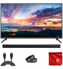 Sansui 40-Inch 1080p FHD DLED Smart TV (S40P28FN) Slim Built-in HDMI, USB, Dolby, High Resolution Bundle with Monoprice 2.1-ch 36-Inch 80-Watt Soundbar Subwoofer, Bluetooth, Remote & Accessories