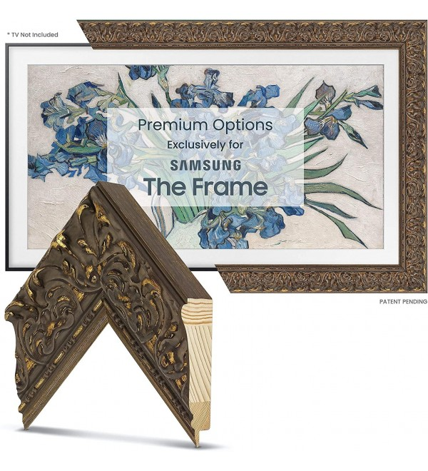 Deco TV Frames - Tuscan Antique Gold Frame Custom Fore for Any Size Samsung The Frame TV (32