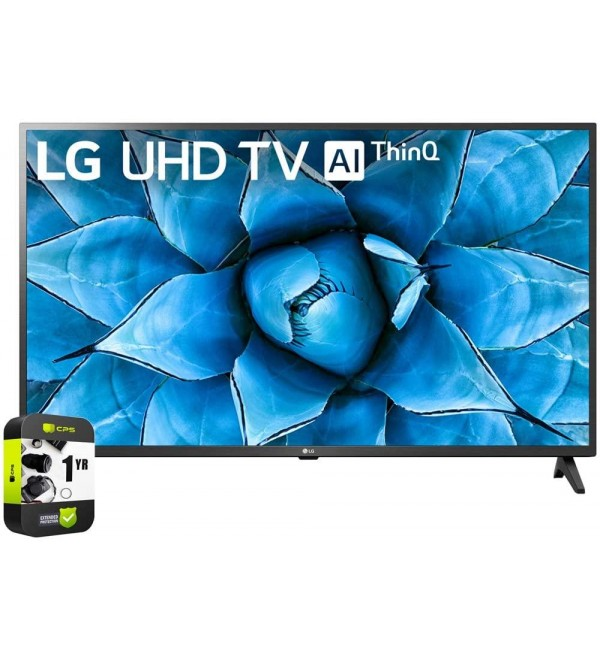 50UN7300PUF 50 inch UHD 4K HDR AI Smart TV 2020 Model Bundle with 1 Year Extended Protection Plan