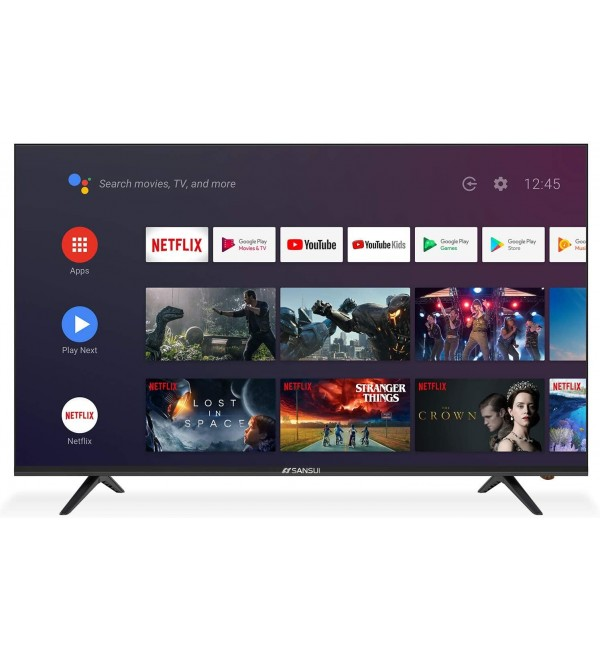 SANSUI 55 Inch 4K Smart TV Ultra HD Smart LED TV HDR with Dolby Sound Voice Remote, Built-in Google Assistant, Support Screen Cast (2020 Model 55'' TV)
