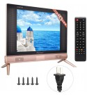 Mugast 17 Inch LCD TV,1366x768 260cd/m2 HDMI/USB/VGA/TV/AV FHD Home Television Screen Monitor with Stereo Sound Speakers for Traditional TV, Laptop, Set-top Box, etc(US)