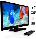 21.5 Inch 1080P LED High Definition HDTV Television with Built In Multimedia CD DVD Player, Remote Control, and Stand (2 Pack)