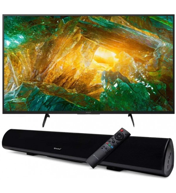 XBR-X800H 49-Inch LED 4K Ultra HD HDR Android Smart TV with Knox Gear Wireless TV Soundbar with Bluetooth 5.0 Bundle (2 Items)