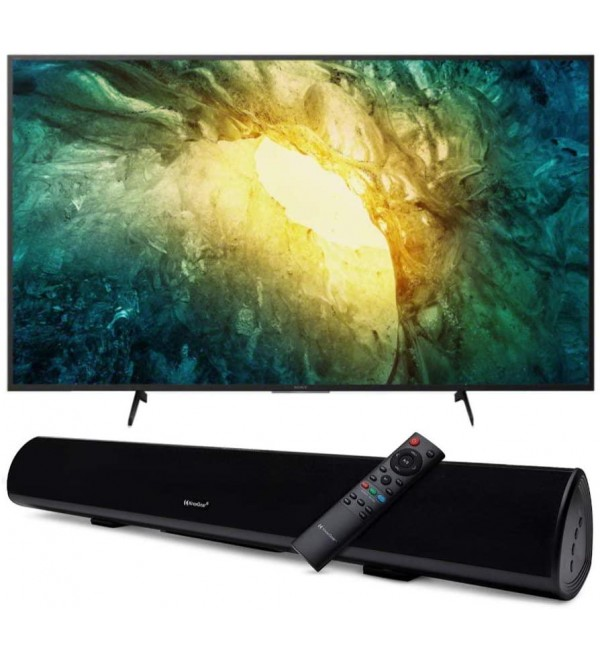KD65X750H 65-inch 4K UHD Smart LED TV with HDR with Knox Gear Wireless TV Soundbar with Bluetooth 5.0 Bundle (2 Items)