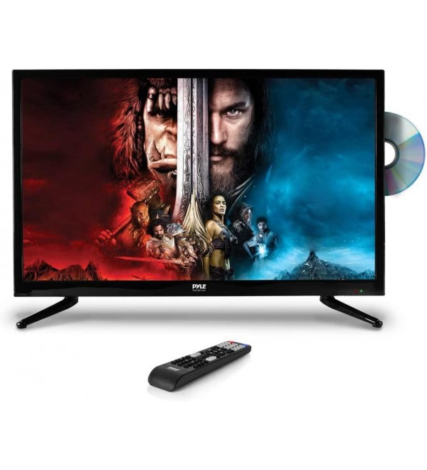 Premium 32 Inch Led TV - 32Inch LED Backlight Flat Screen Television - Hi Res 32in Widescreen 1080P Ultra HD TV W/HDMI, , DVD Player - Remote Control, Vesa Wall Mount Compatible -