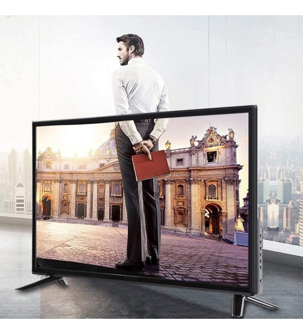 32-inch 32-inch LCD TV Black Supports USB for Home Hotel Office Meeting(U.S. regulations)