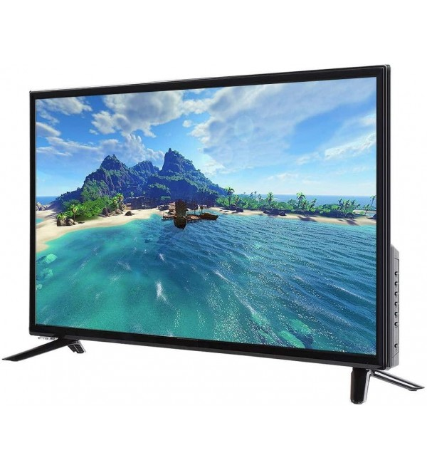 Zouminy 43-inch Large Screen 4K HD LCD TV 19201080 Supports Network Cable+Wireless WiFi 220V Black(US)